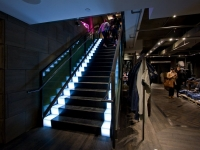 LED Illuminated Stair with lit Risers and Treads - Diesel NY Flagship Lighting Design