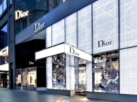 Dior - 57th Street LED Facade Lighting with Optical Illusion Cannage Pattern