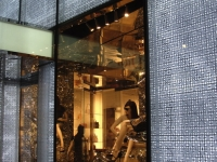 Dior - 57th Street - Close-up of storefront windows and adjacent lit facade panels