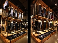 Track lighting for dual-height apparel displays - id: 203
